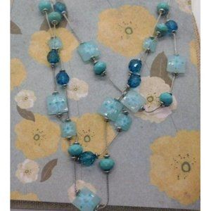 Lot 4 Necklaces Linked Beaded